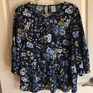 3/4 length sleeve blouse